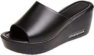 [ジョイジョイ] ミュール サンダル レディースシューズ ブラック 白 ビジュー ラインストーン シューズ カジュアル おしゃれ ウェッジヒール 履き脱ぎ簡単 サンダル用 室内/室外履き 履き心地抜群 プール