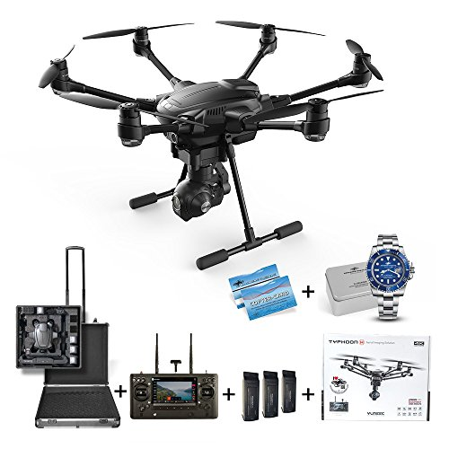 Yuneec Typhoon H Advanced + Koffer + DS24 Inlay +3 Akkus TRAVEL Edition Hinderniserkennung Anti-Collision ST16 4K CGO3+