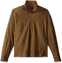 TRU-SPEC Men's 24-7 Series Zip Thru Grid Fleece Pullover, Coyote, X-large