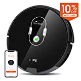ILIFE A7 Robotic Vacuum Cleaner with High Suction, LCD Display, Multi-Task Schedule, Path Mode…