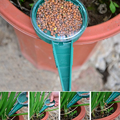 OAGTECH Adjustable Size Seed Disseminator Gardening Plants Flower Seeder Seeds Storage Box Color Green