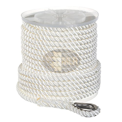 Nylon 3 Strand Anchor/Rigging Line 1/2' x 100' White