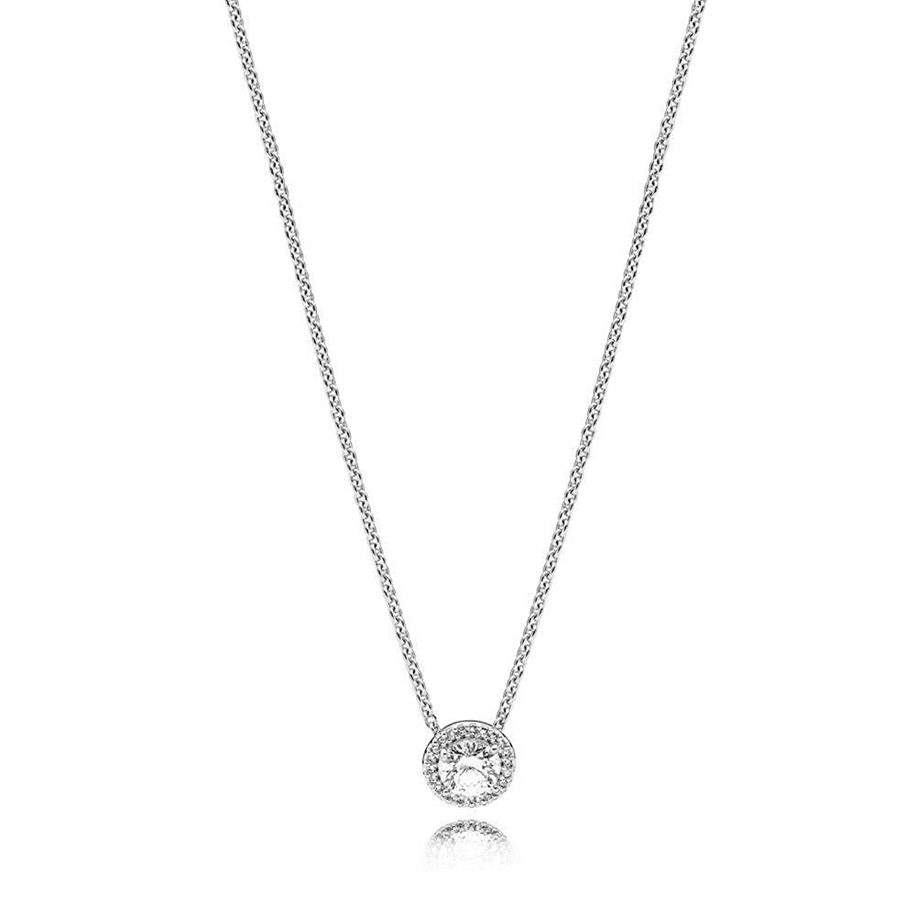 PANDORA Classic Elegance Necklace, Sterling Silver, Clear Cubic Zirconia, 17.8 IN
