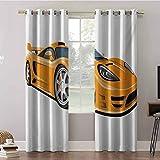 Aishare Store - Tende oscuranti, 52 x 84, termiche, con occhielli isolanti, colore arancione per auto sportive veloci da corsa, tecnica automobilistica, per camera da letto (2 pannelli)