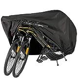 BICASLOVE Funda Bicicleta, Nylón 190T Anti Polvo Resistente al Agua a Prueba de UV Cubierta Bicicleta para Bicicleta de Montaña y Bicicleta de Carretera (Negro)