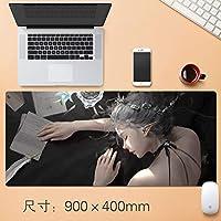 Vampsky 拡張大型プロフェッショナルゲーミングマウスパッドクリエイティブ厚みのゲームノンスリップマット表ホームオフィスラバーベース耐水性デスクマットのノートパソコンのキーボードパッドステッチエッジアニメギフト90 * 40センチメートル (サイズ : Thickness: 4mm)