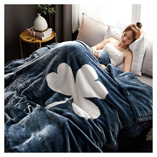 Manta de cama para sofá y sofá con acolchado cálido y cómodo, doble manta Rollsnownow (color 07)