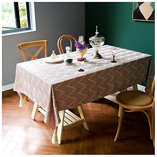 WLI Mantel Rectangular, 90x90cm, Rojo Mantel Lavable sin Arrugas, Cubierta de Mesa Decorativa para Cocina, Comedor, Fiesta Interior