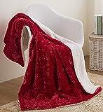 DaDa Bedding Luxury Throw Blanket - Dreamy Milky Way Cloud White - Purple Undertone Embossed Faux Fur Sherpa - Super Soft Warm Plush Fluffy - 50' x 60'