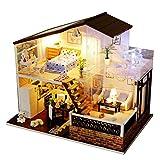 Puppenhaus Bausatz Zum Selbermachen, Holzbausatz Handgefertigt Puppen Haus Spielzeug - Miniatur...