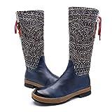 Shinelyf Ajustables Mujer Botas Largo Boots Bohemian Comodas Buena Elasticidad Personalidad Diseño De Costura...