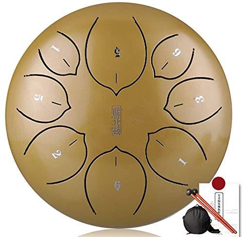 Instrumento de tambor de acero de percusión, 8 pulgadas 8 notas Lengua...