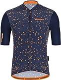 Santini Delta Pietra Nautica Blue 2021 - Maillot de ciclismo de manga corta para hombre, Santini, Azul Nautica., large