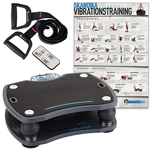 skandika Home 500 - Plataforma vibratoria - MAX.120 Kg - Mando Distancia - 4 programas - Poster de Ejercicios