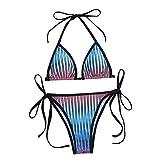 Bikinis Set Mujer Moda Impresión Bikini Sexy Traje de Baño Brasileño de Dos Piezas Adecuado Viajes Playa La Natacion