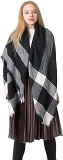 Women's Fall Winter Scarf Plaid Blanket Scarves Gorgeous Classic Warm Soft Oversized Shawl Cape Wrap Shawl Scarves