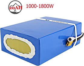 Ebike Battery 48V 20AH Waterproof PVC Lithium ion Battery with Charger, 50A BMS Protection, Electric Bike Battery for 1800W 1500W 1000W Motor