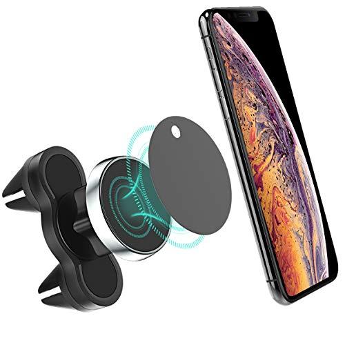 Cocoda Handyhalterung Auto Magnet, [Stabile Dual KFZ Halterung Lüftung] 360° Drehbare Einstellbare Autohalterung Universal für Alle Smartphones und GPS-Geräte (schwarz)