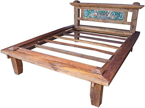 Guru-Shop Tweepersoonsbed `Java` - Model 4, Bruin, 120x182x250 cm, Bedden