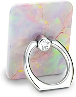Velvet Caviar Cell Phone Ring Holder - Finger Ring & Stand - Improves Phone Grip Compatible with iPhone, Galaxy and Most Cases (Except Silicone/Leather) - Pink Marble