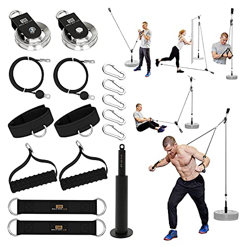 Home Gym Pulley System by Goldboxllc - 250 LB LAT Pull Down Machine -...