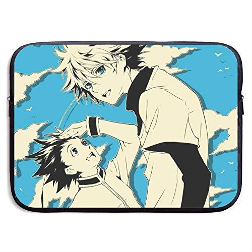 Anime Hunter x Hunter - Funda protectora universal para portátil de 13 a 15 pulgadas, impermeable, con cremallera, dos opciones de tamaño