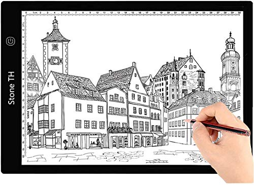 Mesa de Luz Dibujo A4, LED Tableta de Luz de Iluminación de la Caja de Alimentación Micro USB Ideal para Animacion Tatoo Dibuja 🔥