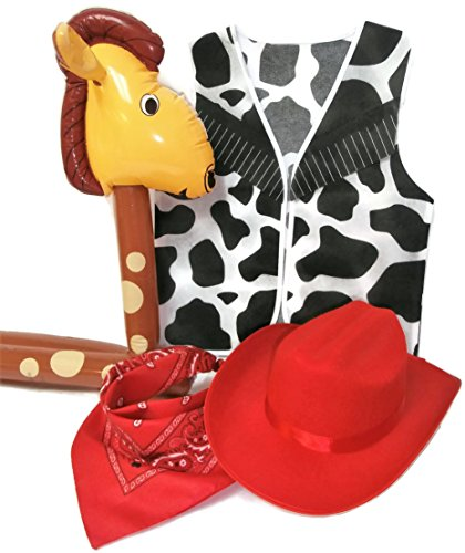 Auberge Kids Costumes Pretend Dress Up Role Play Sets (Cowgirl)