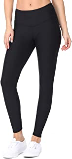 EVCR Compression Leggings for Women - 7/8 Length Non See Through Soft Athletic Yoga Pants for Workout
