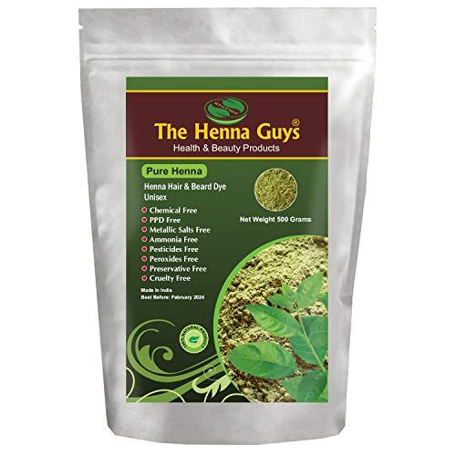 The Henna Guys - Henné pur pour teinture coloration cheveux - 500 g