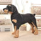 Simulación de peluche juguetes Simulación 3D de pie perro negro peluche juguete peluche animales juguete súper realista perro juguete juguete accesorios regalos de cumpleaños Juguetes de peluche FATEG