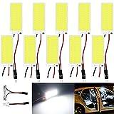 Paquet de 10 Ampoule Blanche 250Lums COB 36-SMD 12V DC LED pour Panneau D'éclairage Intérieur de Voiture...