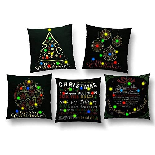 LJQLXJ KJJYUK Oreiller canapé 5pcs canapé décor taie d'oreiller taies d'oreiller de Noël canapé Lit en Peluche décor à la Maison couvre oreiller Coussin, 5pcs