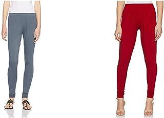 764a255375e6b Lux Lyra Women's Leggings (Pack of 2)(LYRA IC LEGG STEEL GREY 37&LYRA