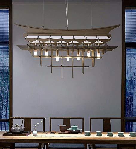 Lámpara colgante de casa,accesorio de luz de techo zen de estilo chino,accesorios de cableado duro para lámpara colgante LED E14 * 7,lámpara de araña de acrílico,sin fuente de luz