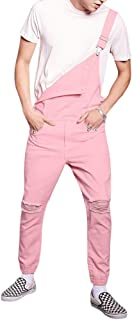 AOWOFS Mens Dungarees Loose Fit Bib Overalls Cotton Retro Jumpsuits Work Trousers Combat Cargo
