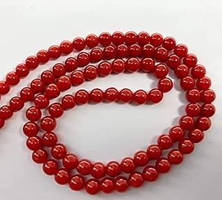 Jewel Beads Natural Beautiful jewellery Genuine top dark red italian coral 17 inches 4.25-4.75 mmCode:- BB-34855