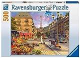 Ravensburger Puzzle, Puzzle 500 Piezas, De Paseo Por París, Puzzles para Adultos, Puzzle París, Rompecabezas Ravensburger de Alta Calidad