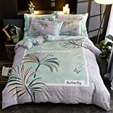 yaonuli Baumwolle vierteilige Bettwäsche großes Blumenbeet, vierteilige Bettdecke: 200 * 230 * 1 Bettlaken 250 * 250 * 1 Kissenbezug: 48 * 74 * 2