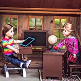 The Queen's Treasures 18 Inch Doll Teacher & Student Classroom Desks Plus School Books, Chalkboard, Pencil, Globe and More. Furniture & Accessories Compatible with American Girl Dolls