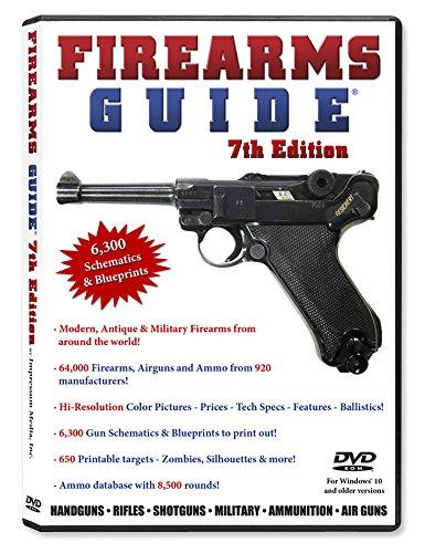 Firearms Guide 7th Edition (DVD-Rom) - With 6,300 gun schematics & blueprints + 64,000 guns presented!