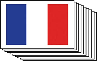 France Flag Temporary Tattoos (10 pack) | Skin Safe | MADE IN THE USA| Removable