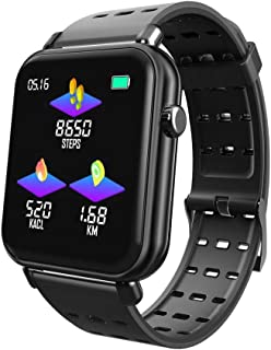 Activity Tracker, Tenlso Y6Pro Smart Watch Health Fitness Tracker W/Blood Pressure Heart Rate Monitor, Waterproof Upgraded TFT Tempered Glass Color Screen Bracelet for Women Men iOS/Android