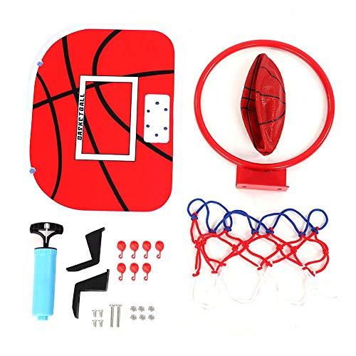 VGEBY1 Basketballspielzeug Set, Verstellbarer Aufhängungs-Netball-Reifen mit Basketballplatte für Kinder-Indoor-Aktivitätsspielzeug(Winkelhaken+Nahtloser Aufkleberhaken)