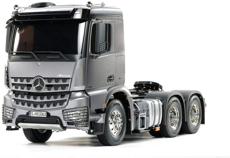 TAMIYA 56359 56359-1 14 Mercedes Benz Arocs 3363 H.Gun Metall Vorlackiert, RC-Truck, fernsteuerbarer LKW, Modellbau, Bausatz, wei