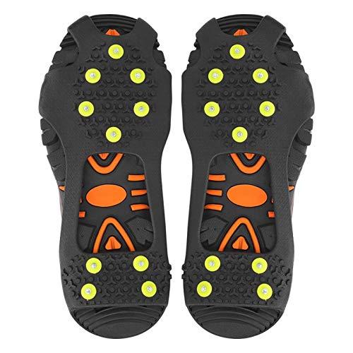 Tacos de tracción Ice Snow Grips Ice Sonw Grips 10 dientes Ligweight Durable para calzado, botas para caminar, trotar, escalar(L: 39-42)
