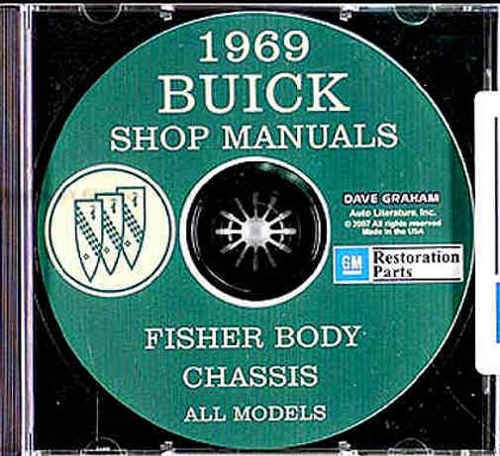 1969 Buick CD-ROM Repair Shop Manual and Body Manual