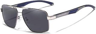 KINGSEVEN Square Polarized Sunglasse Temples Coating Mirror Glasses Al-Mg Ultra Light