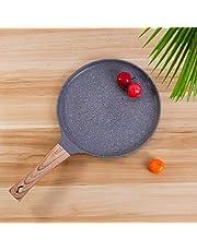 MONLEYTA 9,4 Pulgadas Crepe Pan Pancake Plancha Plana Antiadherente Sartén para Tortilla