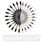 Onepine 26 Skeins Stickgarne darunter 13 Schwarz und 13 Weiß